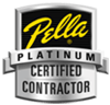image of Pella Window Platinum Certified Contractor logo awarded to Anderson Building and Restoration
