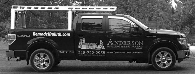 picture of Anderson Building and Restoration Company Truck